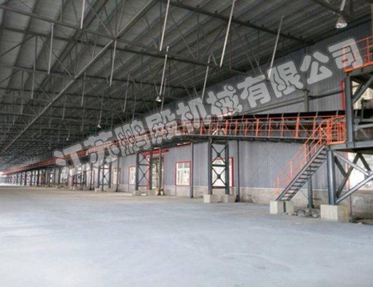 荣鑫伟业有限公司B=1400皮带输送机360米安装现场