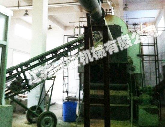 苏南药业锅炉进料系统斗式提升机,螺旋输送机